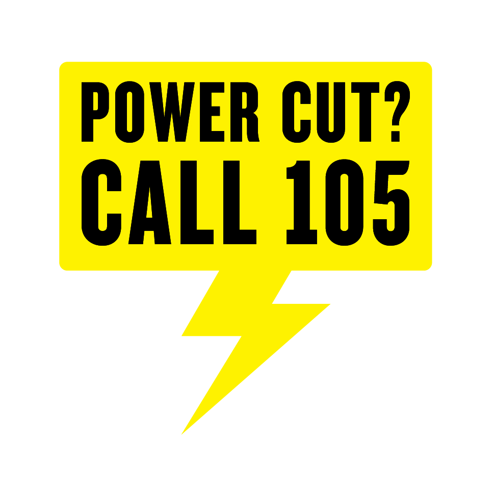"""""""105"""" is the new number to call if there's a power cut"""