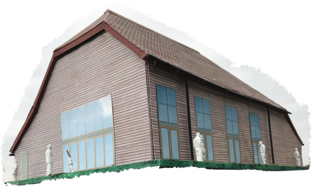 Illustrative model of the new village hall