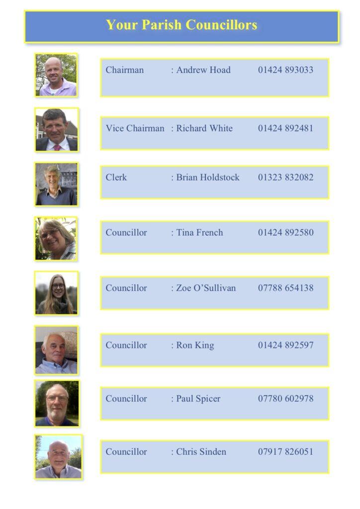 Photo of the current Parish Councillors