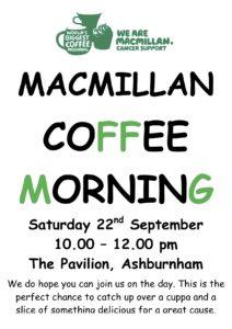 Macmillan Coffee Morning @ The Pavilion
